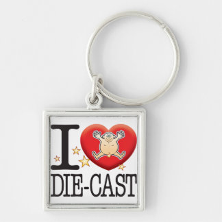Die-Cast Love Man Keychain