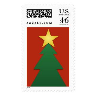 Die Cut Scrapbook Style Holiday Tree Postage