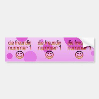 Die Freundin Nummer 1 German Flag Colors 4 Girls Bumper Sticker