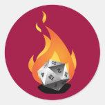 Die in a Fire (D.I.A.F) Classic Round Sticker