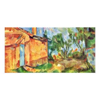 Die Jourdans Hut By Paul Cézanne (Best Quality) Photo Card Template