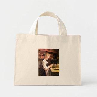 Die kleine Kartoffelschälerin Girl Peeling Potatos Canvas Bag
