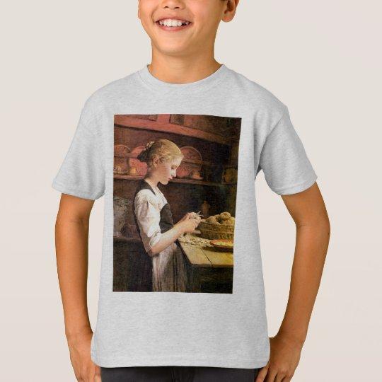 Die kleine Kartoffelschälerin Girl Peeling Potatos T-Shirt