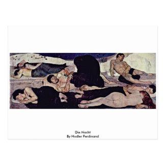 Die Nacht By Hodler Ferdinand Postcard