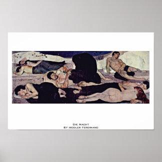 Die Nacht By Hodler Ferdinand Poster