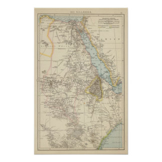 Die Nillander - Atlas Map of the Nile Poster