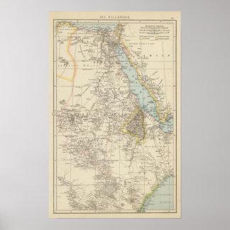 Die Nillander - Atlas Map of the Nile Poster