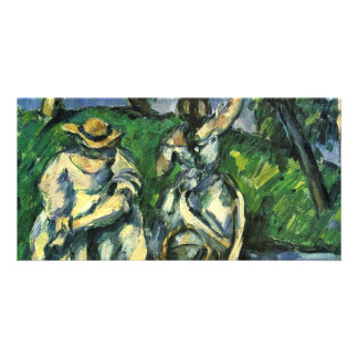 Die Obstpflückerin By Paul Cézanne (Best Quality) Custom Photo Card