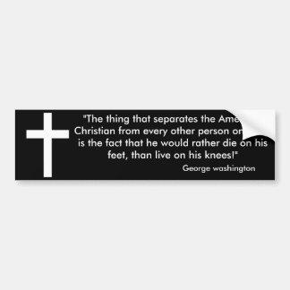 Die on your feet bumper sticker