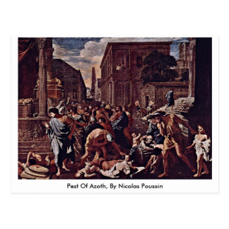 Die Pest Of Azoth, By Nicolas Poussin Postcard