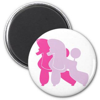 Die pinken Pudel 2 Inch Round Magnet