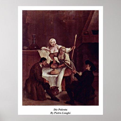 Die Polenta By Pietro Longhi Posters