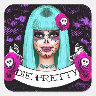 Die Pretty Square Sticker