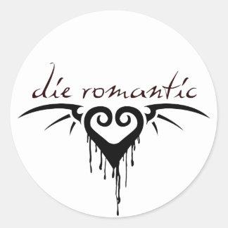 die romantic classic round sticker