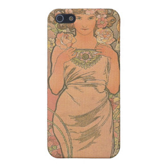 """""""Die Rose"""" Four Seasons Alfons Mucha 1895 Cover For iPhone SE/5/5s"""
