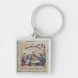 Die Schleuder Glocke - The repulsion bell Silver-Colored Square Keychain