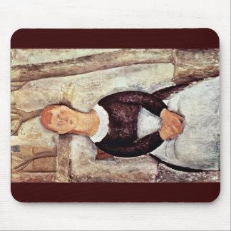 Die Schöne Drogeristin By Modigliani Amedeo Mousepads