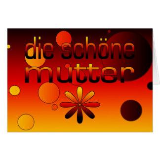 Die Schöne Mutter Germany Flag Colors Pop Art Card