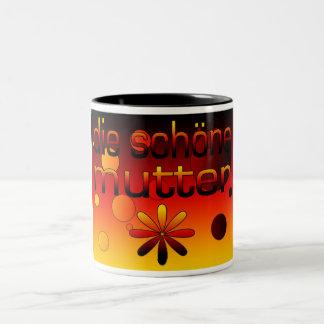 Die Schöne Mutter Germany Flag Colors Pop Art Two-Tone Coffee Mug