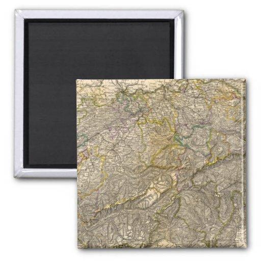 Die Schweiz 2 Inch Square Magnet