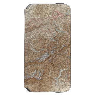 Die Schweiz,  Switzerland Atlas Map iPhone 6/6s Wallet Case