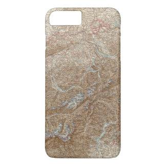 Die Schweiz,  Switzerland Atlas Map iPhone 8 Plus/7 Plus Case