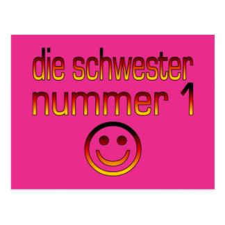 Die Schwester Nummer 1 - Number 1 Sister in German Postcard