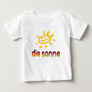 Die sonne The Sun in German Summer Vacation Baby T-Shirt