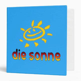 Die sonne The Sun in German Summer Vacation Binder