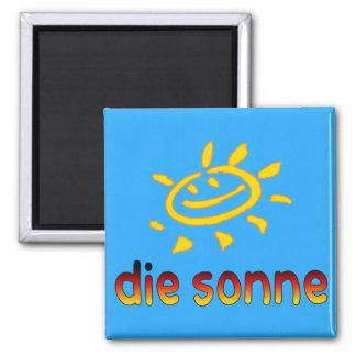 Die sonne The Sun in German Summer Vacation Magnet