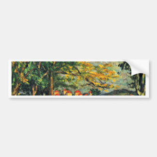 Die Strasse (The Wall) By Paul Cézanne Car Bumper Sticker