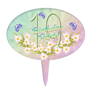 diecinueveavo Arco iris y fiesta de cumpleaños de Palillos De Tarta