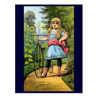 diecinueveavo C. Chica y su triciclo Postales