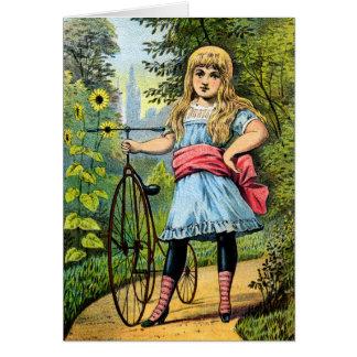 diecinueveavo C. Chica y su triciclo Tarjeta De Felicitación