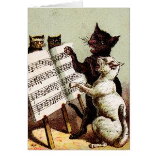 diecinueveavo C. Gatos del canto Tarjeta De Felicitación