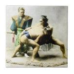 diecinueveavo C. Luchadores japoneses Azulejos Cerámicos