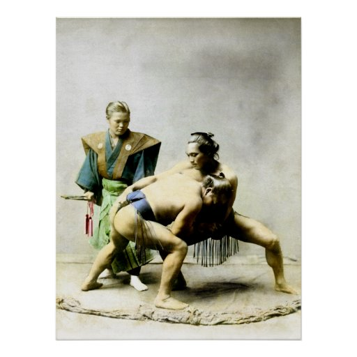 diecinueveavo C. Luchadores japoneses Poster