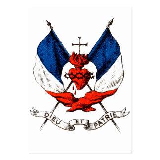 diecinueveavo C. Patriotismo francés Tarjeta De Negocio