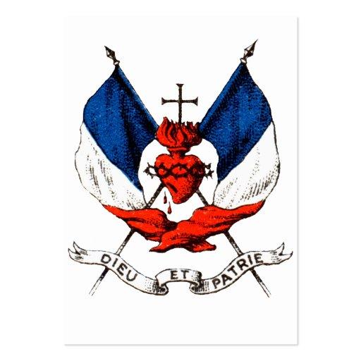diecinueveavo C. Patriotismo francés Tarjetas De Visita Grandes