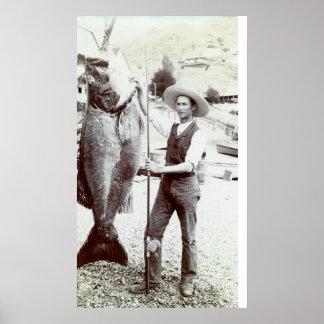 diecinueveavo C. Pescador y mero de Goliat Póster