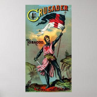 diecinueveavo C. Poster del tabaco del cruzado