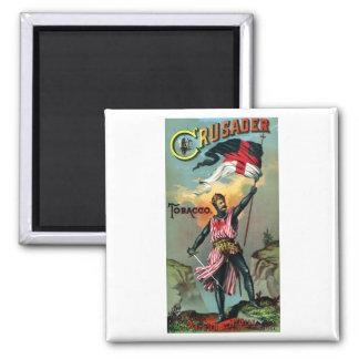 diecinueveavo C. Poster del tabaco del cruzado Imán Cuadrado
