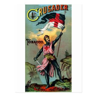 diecinueveavo C. Poster del tabaco del cruzado Postales