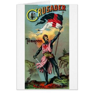 diecinueveavo C. Poster del tabaco del cruzado Tarjeta De Felicitación