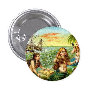 diecinueveavo C. Sirenas Pin Redondo De 1 Pulgada