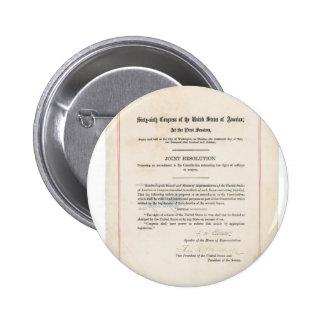 Diecinueveavo constitución de los E.E.U.U. de la e Pin Redondo 5 Cm
