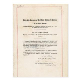 Diecinueveavo constitución de los E E U U de la e Tarjetas Postales