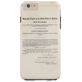 Diecinueveavo constitución de los E.E.U.U. de la Funda Para iPhone 6 Plus Tough