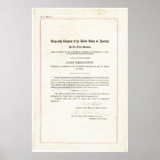 diecinueveavo Enmienda a la constitución de Estado Poster