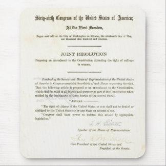 diecinueveavo Enmienda a la constitución de Estado Alfombrilla De Ratones